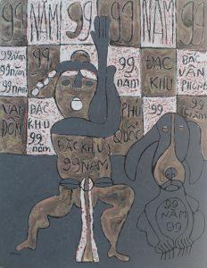 99 02, acrylic painting by Nguyen Thi Mai
