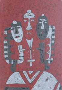 Healers, an acrylic on canvas painting by Nguyen Thi Mai