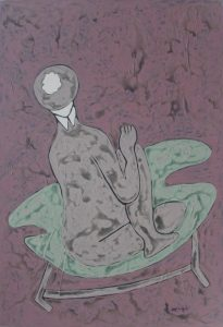 Her Chair 03, an acrylic on canvas painting by Nguyen Thi Mai