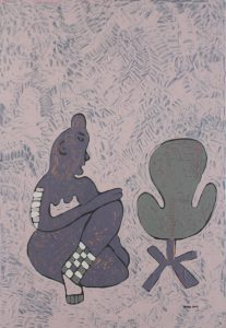 Her Chair 04, an acrylic on canvas painting by Nguyen Thi Mai