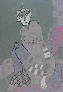 Her Chair 14, an acrylic on canvas painting by Nguyen Thi Mai