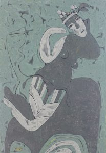 Her Chair 17, an acrylic on canvas painting by Nguyen Thi Mai