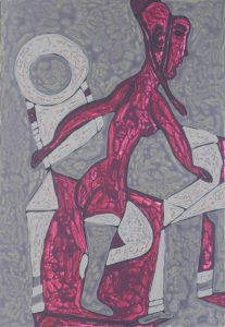 Her Chair 23, an acrylic on canvas painting by Nguyen Thi Mai