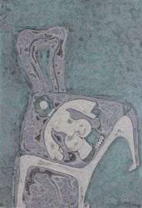 Her Chair 24, an acrylic on canvas painting by Nguyen Thi Mai