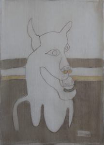 Pooch 043, silk painting by Nguyen Thi Mai