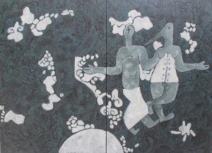 Cloud, an acrylic painting by Nguyen Thi Mai