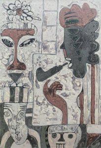 Diva, acrylic on canvas painting by Nguyen Thi Mai