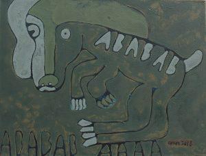 Dog 04, acrylic painting by Nguyen Thi Mai