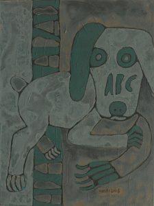 Dog 11, acrylic painting by Nguyen Thi Mai