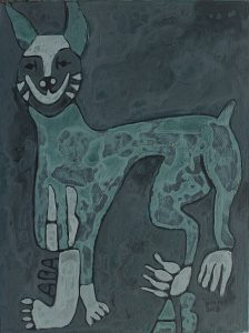 Dog 12, acrylic painting by Nguyen Thi Mai