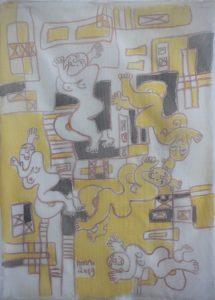 Ensemble-016, silk painting by Nguyen Thi Mai