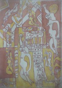 Ensemble-020, silk painting by Nguyen Thi Mai