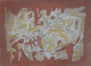 Ensemble-021, silk painting by Nguyen Thi Mai