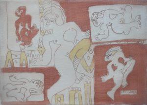 Ensemble-022, silk painting by Nguyen Thi Mai