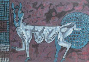 Foal 02, an acrylic painting by Nguyen Thi Mai
