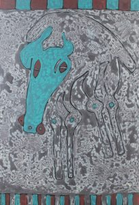 Hades Horse 01, an acrylic painting by Nguyen Thi Mai