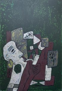 Haggard, an acrylic painting by Nguyen Thi Mai