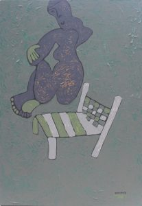 Her Chair 11, an acrylic on canvas painting by Nguyen Thi Mai