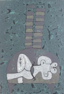 Her Chair 32, an acrylic on canvas painting by Nguyen Thi Mai