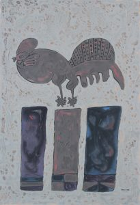 June Rooster, an acrylic on canvas painting by Nguyen Thi Mai