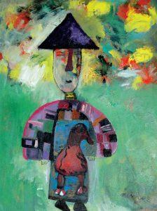 Man From Countryside, an acrylic painting by Nguyen Thi Mai