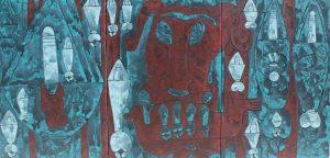 Ná Nhèm 01, acrylic painting by Nguyen Thi Mai