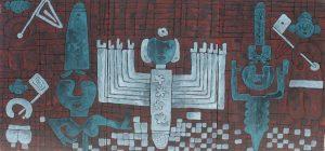Ná Nhèm 02, acrylic painting by Nguyen Thi Mai