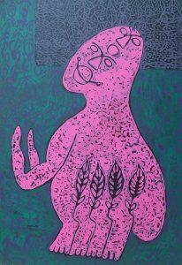 Pink Edward, acrylic painting by Nguyen Thi Mai