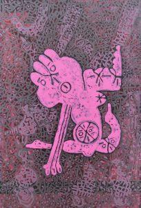 Pink Ego, acrylic painting by Nguyen Thi Mai