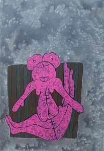 Pink Toddler, acrylic painting by Nguyen Thi Mai