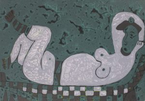 Reclining Chair, an acrylic on canvas painting by Nguyen Thi Mai