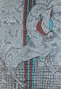 Stallion 01, an acrylic painting by Nguyen Thi Mai