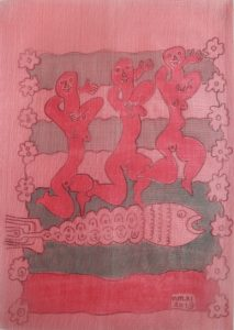 Tercet-003, silk painting by Nguyen Thi Mai