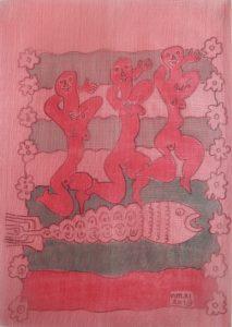 Tercet-003, silk painting by Nguyen Thi Mai