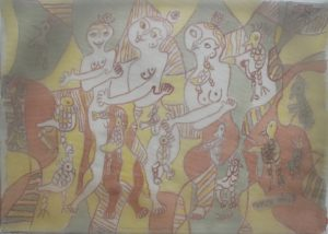 Tercet-005, silk painting by Nguyen Thi Mai