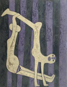 Yoga 02, acrylic on canvas painting by Nguyen Thi Mai